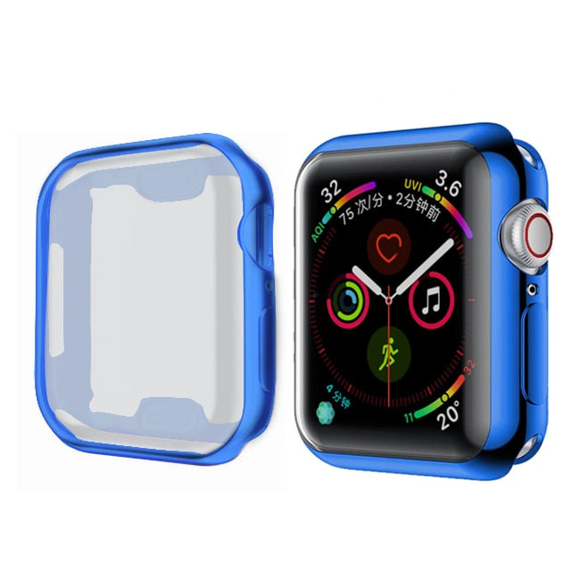 Watch Cover case For Apple Watch series 5 4 3 2 1 band case 42mm 38m 40mm 44mm Slim TPU case Protector for iWatch 4 44mm