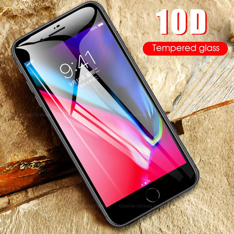 for iPhone 11 pro max 11 X XS XR 7 8 6 6s Plus 10D Ultra-thin clear film For iPhone 6 6s 7 8 11pro 2019 XS MAX screen protection