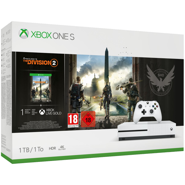 Xbox One S 1TB + Tom Clancy's The Division 2