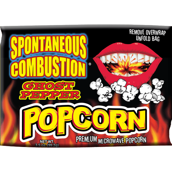 Spont Combust Ghost Pepper Microwave Popcorn - Curious Taste