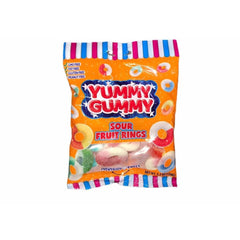 Yummy Gummy Sour Fruit Rings - Curious Taste
