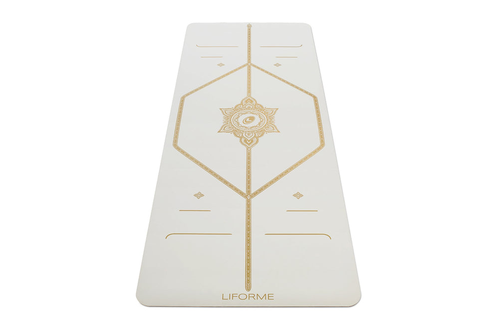 Liforme 'White Magic' Yoga Mat - White/Gold image 2