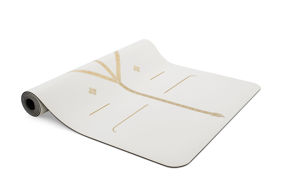Liforme 'White Magic' Yoga Mat - White/Gold image 4