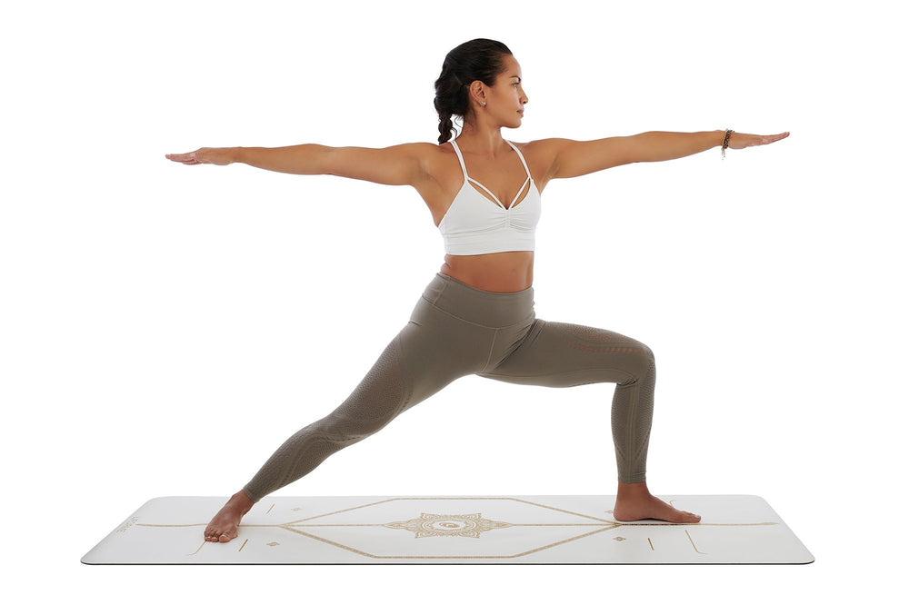 Liforme 'White Magic' Yoga Mat - White/Gold image 5
