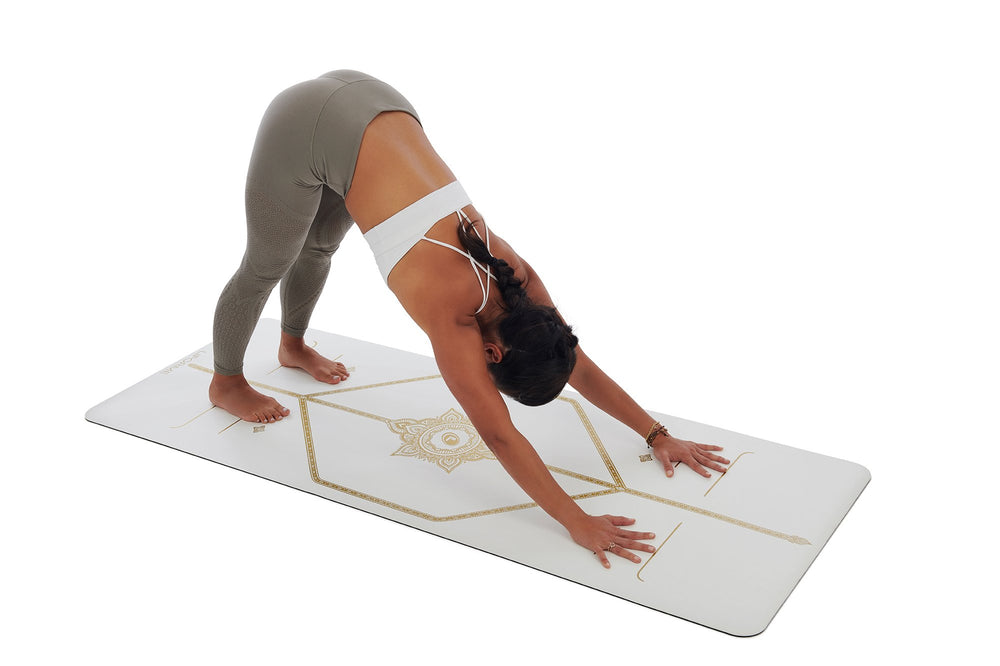 Liforme 'White Magic' Yoga Mat - White/Gold image 6