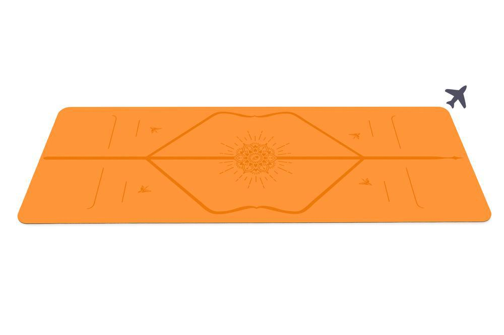 Liforme Happiness Travel Mat - Vibrant Orange