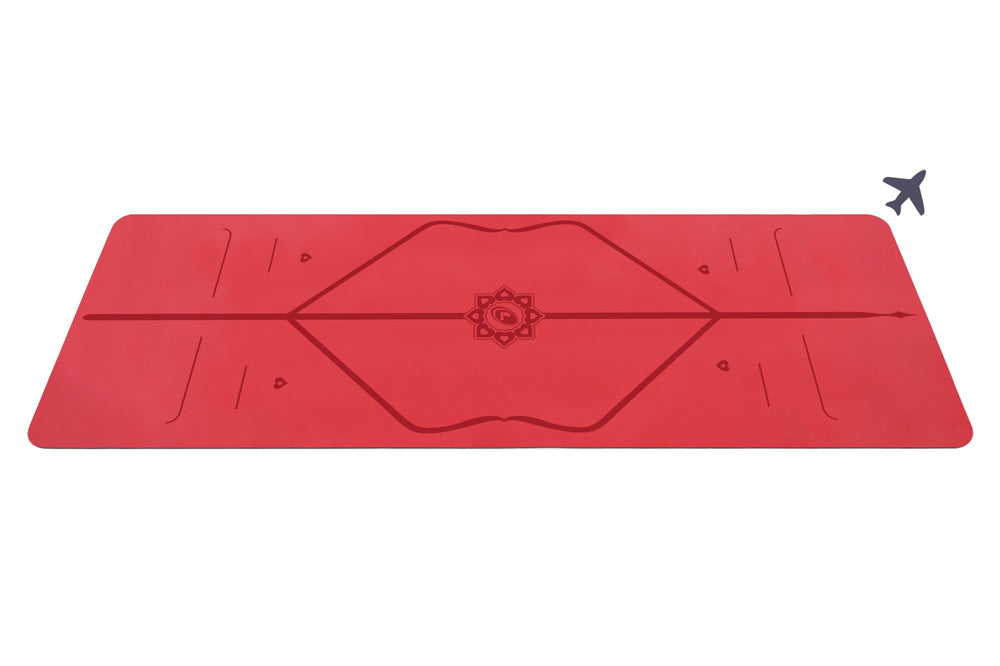 Liforme Love Travel Mat - Red image 1