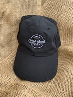 Black Solid Color Logo Hat