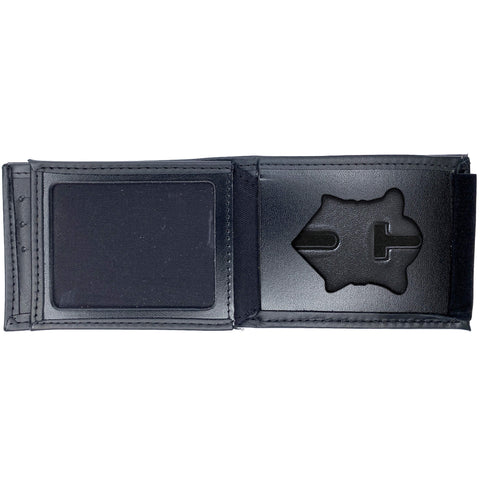 Massachusetts State Police Horizontal Bifold Hidden Badge Wallet-Perfect Fit-911 Duty Gear USA
