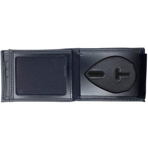 Charlotte-Mecklenburg Police Officer Horizontal Bifold Hidden Badge Wallet-Perfect Fit-911 Duty Gear USA