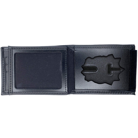 New York Police Department (NYPD) Captain Horizontal Bifold Hidden Badge Wallet-Perfect Fit-911 Duty Gear USA