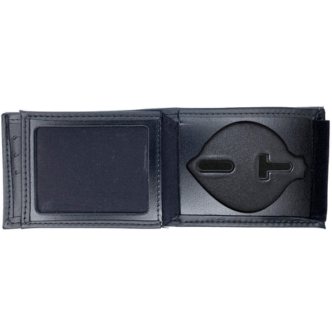 Pittsburgh Police Officer Horizontal Bifold Hidden SMALL Badge Wallet-Perfect Fit-911 Duty Gear USA