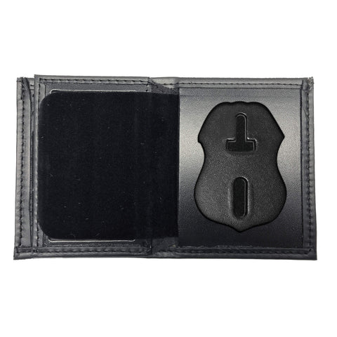 U.S. Immigration and Customs Enforcement - ICE (3in) Bifold Hidden Badge Wallet-Perfect Fit-911 Duty Gear USA