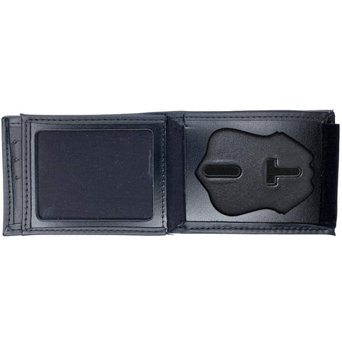 Houston Police Sergeant Horizontal Bifold Hidden Badge Wallet-Perfect Fit-911 Duty Gear USA