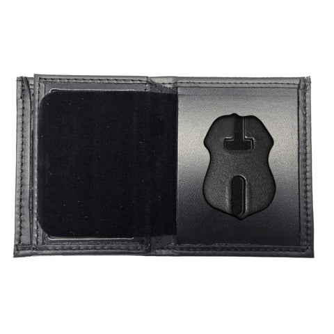 U.S. Immigration and Customs Enforcement - ICE (2.5in) Bifold Hidden Badge Wallet-Perfect Fit-911 Duty Gear USA