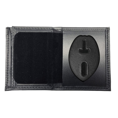 Concealed Weapons Permit Bifold Hidden Badge Wallet