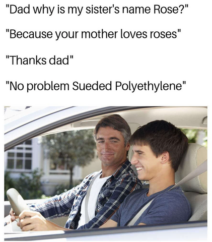 Who knew Sueded was old enough to drive?