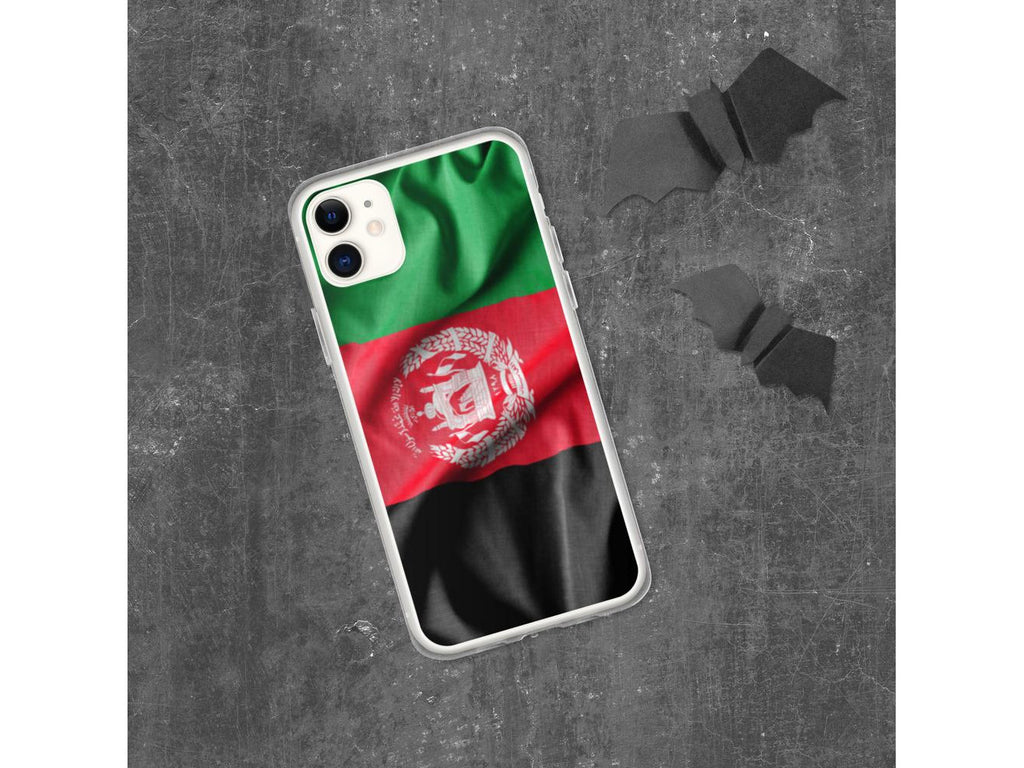 Waving Afghan Flag iPhone Case