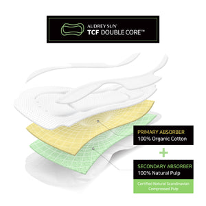 TCF Double Core Large Sanitary Pads 10P - Audrey Sun