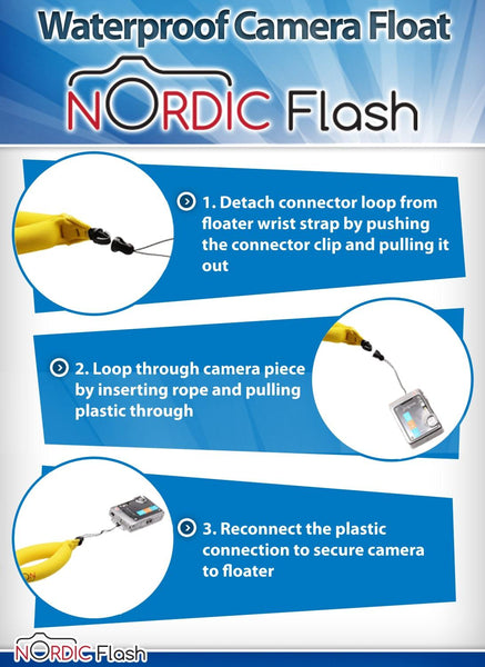 Nordic Flash Waterproof Camera Float (2-Pack)