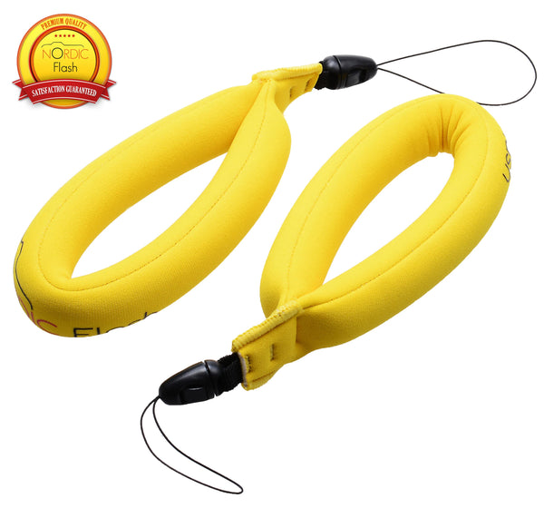 Nordic Flash Waterproof Camera Float - Pack of 2 - Bright Yellow