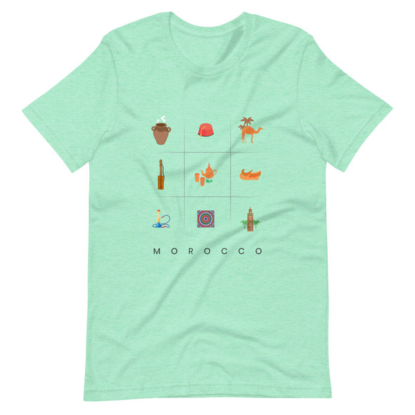 Symbols:Morocco / Short-Sleeve Loose Fit Women's T-Shirt / Light Colors (M008F)