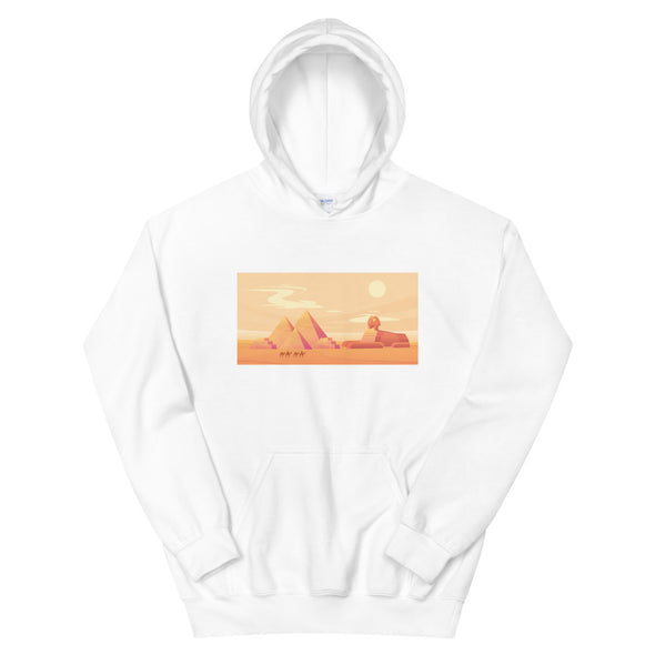 Pyramids Sunset / Women's Heavy Blend Hoodie / Colors (E147FH)