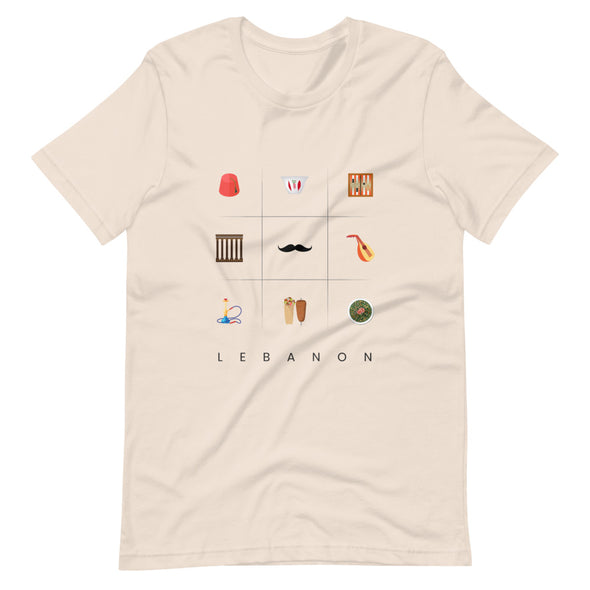 Symbols:Lebanon / Short-Sleeve Classic Men's T-Shirt / Light Colors (L028M)