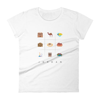 Symbols:Jordan / Women's Fashion Fit T-Shirt / Light Colors (J032F)