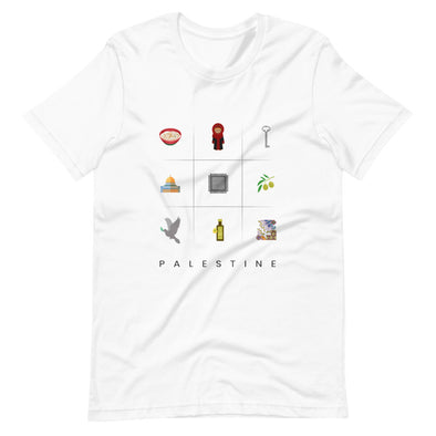 Symbols:Palestine / Short-Sleeve Loose Fit Women's T-Shirt / White (P017F)