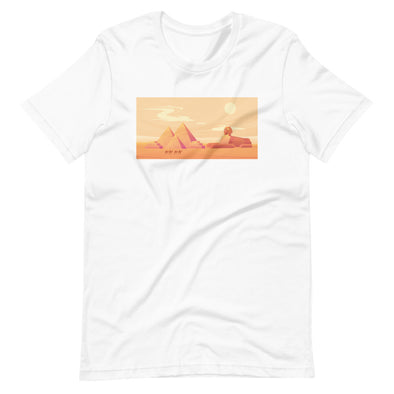 Pyramids sunset / Short-Sleeve Loose Fit Women's T-Shirt / Light Colors (E050F)