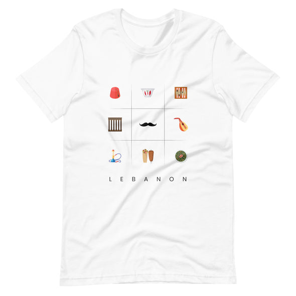 Symbols:Lebanon / Short-Sleeve Loose Fit Women's T-Shirt / Light Colors (L030F)