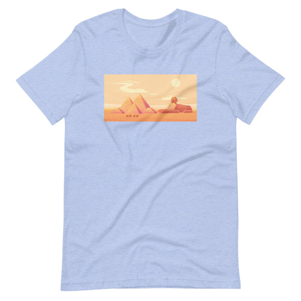 Pyramids sunset / Short-Sleeve Classic Men's T-Shirt / Bluish (E045M)