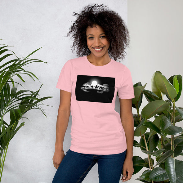 Desert / Short-Sleeve Loose Fit Women's T-Shirt / Light Colors (A014F)