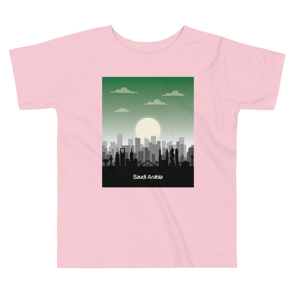 KSA / Toddler Short Sleeve Tee / White, Black, and Pink (S005T)