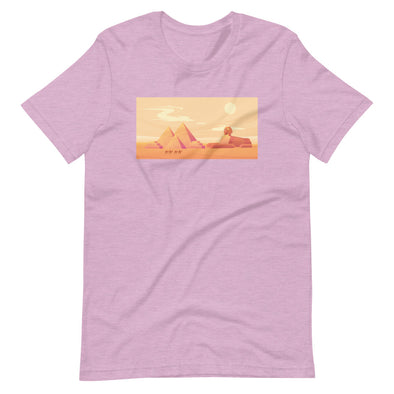 Pyramids sunset / Short-Sleeve Loose Fit Women's T-Shirt / Colors (E048F)