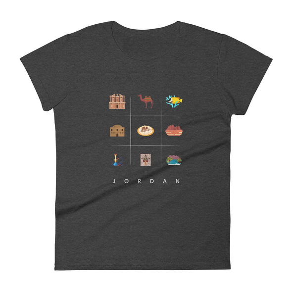 Symbols:Jordan / Women's Fashion Fit T-Shirt / Dark Colors (J030F)