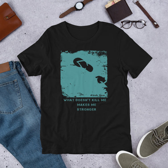 What Doesn't Kill Me Turquoise / Short-Sleeve Classic Men's T-Shirt / White, Navy, and Black (A023M)