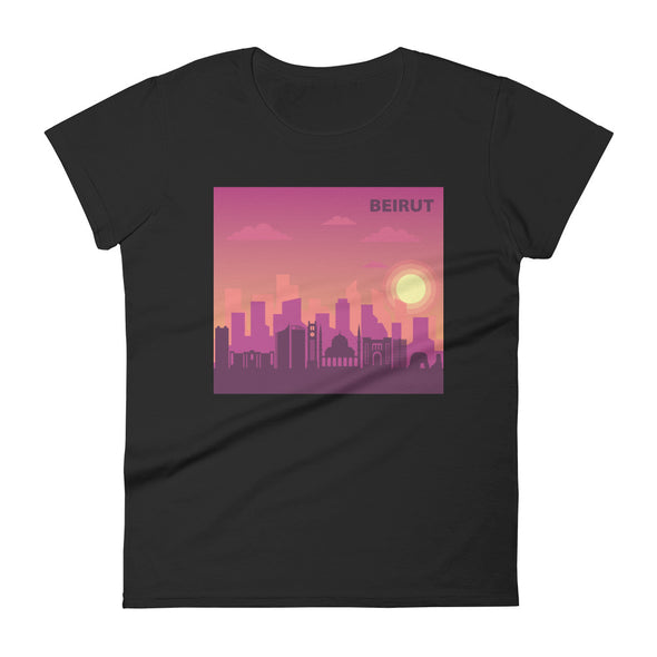 Beirut Sunset / Women's Fashion Fit T-Shirt / all colors (L027F)