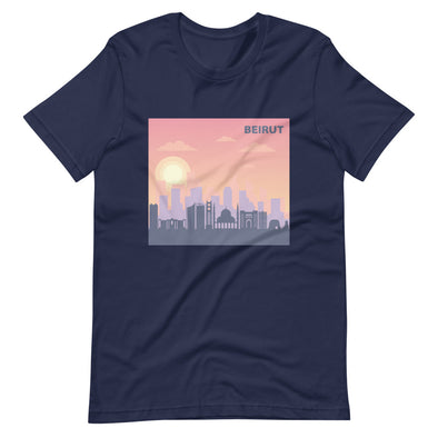 Beirut Sunrise / Short-Sleeve Classic Men's T-Shirt / Colors (L017M)