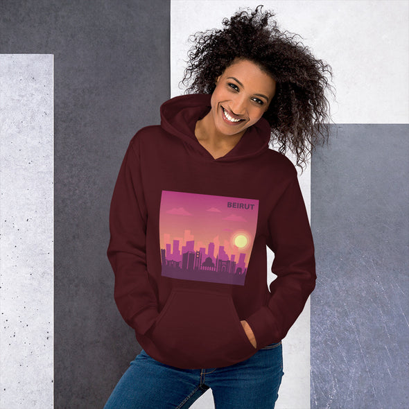 Beirut Sunset / Women's Heavy Blend Hoodie / Colored (L119FH)