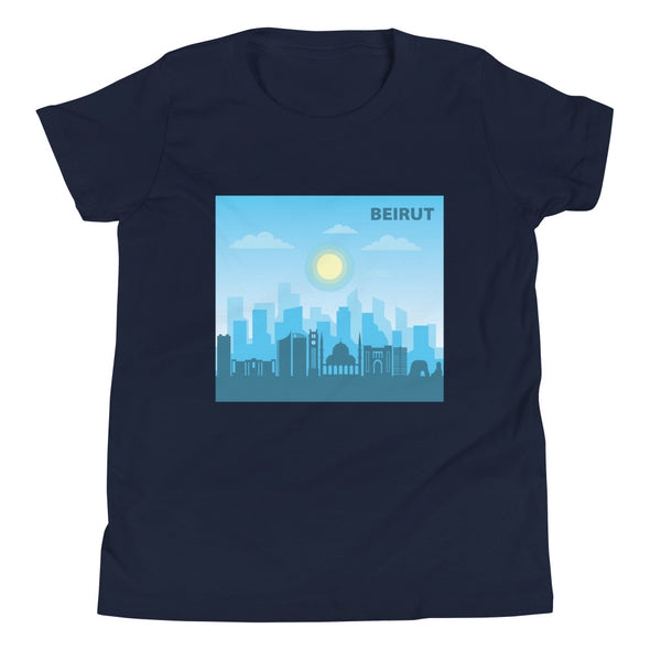 Beirut Day / Youth Short Sleeve T-Shirt / Colored (L037.5Y)