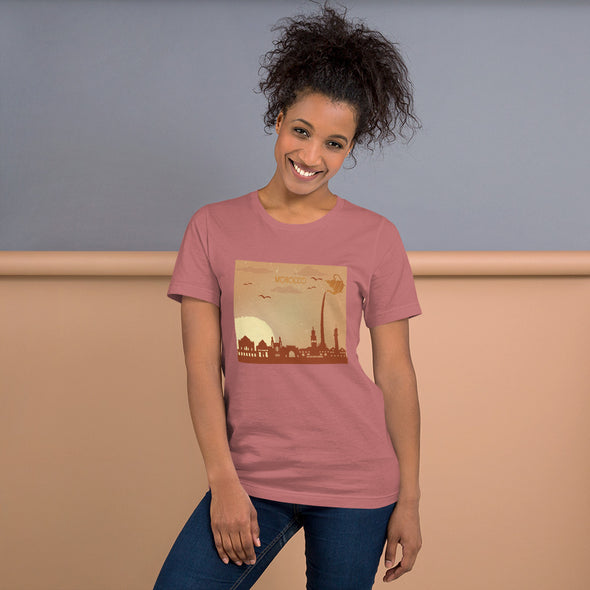 Morocco / Short-Sleeve Loose Fit Women's T-Shirt / Colors (M002F)