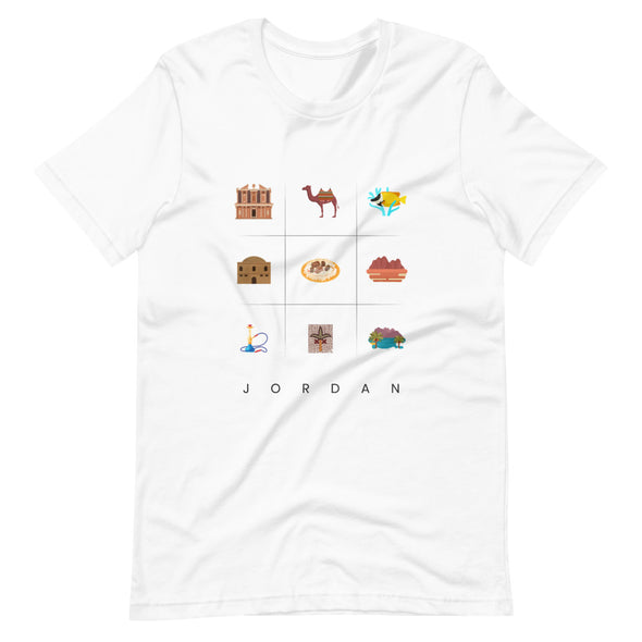 Symbols:Jordan / Short-Sleeve Classic Men's T-Shirt / Light Colors (J026M)