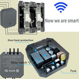 Smart WiFi Relay Switch, 2 Channels 10Amp