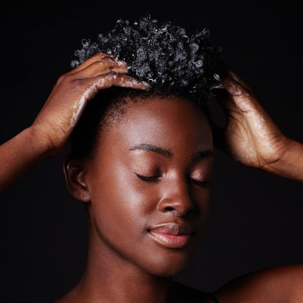 Focusing on the scalp, massage in a circular motion and work through hair from root to tips. Allow to sit 1-2 minutes.