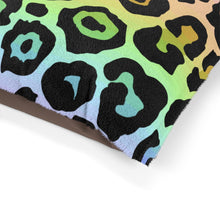Load image into Gallery viewer, Leopard Rainbow Ombre Pet Bed