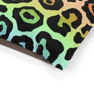 Leopard Rainbow Ombre Pet Bed