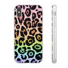 Load image into Gallery viewer, Rainbow Ombre Leopard Flexi Case