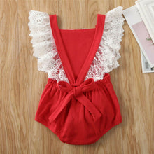 Load image into Gallery viewer, Summer Newborn Baby Girl Clothes Lace Ruffle Bodysuit Jumpsuit Outfits